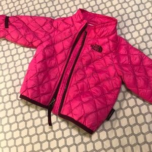 The North Face pink jacket 3-6 months